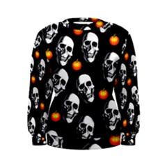 Skulls And Pumpkins Women s Sweatshirts