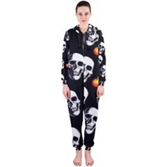 Skulls And Pumpkins Hooded Jumpsuit (Ladies)
