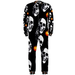 Skulls And Pumpkins Onepiece Jumpsuit (men)