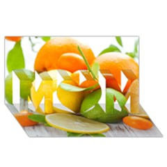 Citrus Fruits MOM 3D Greeting Card (8x4)
