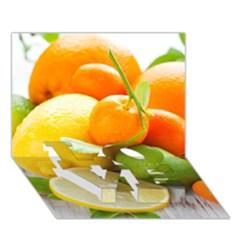 Citrus Fruits Love Bottom 3d Greeting Card (7x5)
