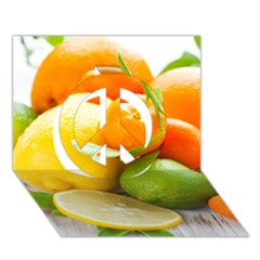 Citrus Fruits Peace Sign 3d Greeting Card (7x5)