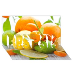Citrus Fruits Best Sis 3d Greeting Card (8x4)