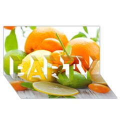 Citrus Fruits PARTY 3D Greeting Card (8x4)