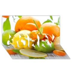 Citrus Fruits SORRY 3D Greeting Card (8x4)