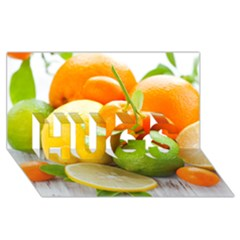 Citrus Fruits Hugs 3d Greeting Card (8x4)