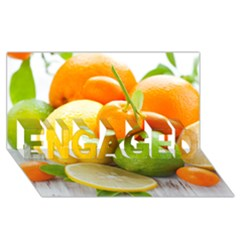Citrus Fruits ENGAGED 3D Greeting Card (8x4)