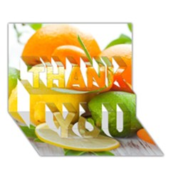 Citrus Fruits Thank You 3d Greeting Card (7x5)