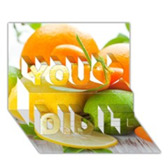 Citrus Fruits You Did It 3d Greeting Card (7x5)