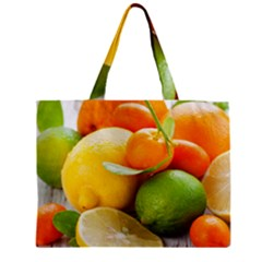 Citrus Fruits Zipper Tiny Tote Bags
