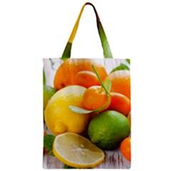 Citrus Fruits Zipper Classic Tote Bags