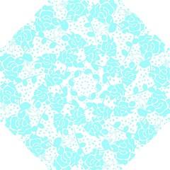 Floral Wallpaper Aqua Folding Umbrellas