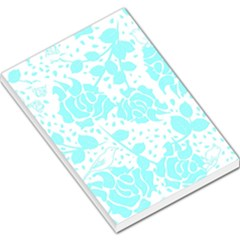 Floral Wallpaper Aqua Large Memo Pads