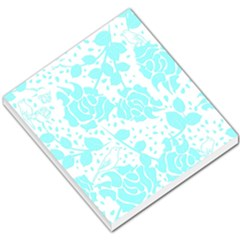 Floral Wallpaper Aqua Small Memo Pads
