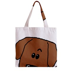 Peeping Dachshund Zipper Grocery Tote Bags