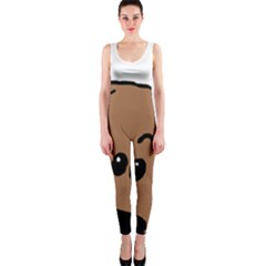 Peeping Dachshund OnePiece Catsuits