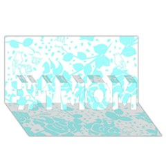 Floral Wallpaper Aqua #1 MOM 3D Greeting Cards (8x4)