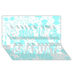 Floral Wallpaper Aqua Congrats Graduate 3d Greeting Card (8x4)