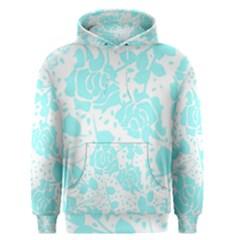 Floral Wallpaper Aqua Men s Pullover Hoodies