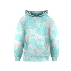 Floral Wallpaper Aqua Kid s Pullover Hoodies