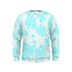 Floral Wallpaper Aqua Boys  Sweatshirts