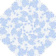 Floral Wallpaper Blue Folding Umbrellas
