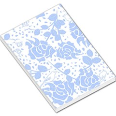 Floral Wallpaper Blue Large Memo Pads