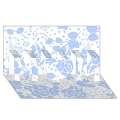 Floral Wallpaper Blue Mom 3d Greeting Card (8x4)