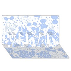 Floral Wallpaper Blue #1 Dad 3d Greeting Card (8x4)