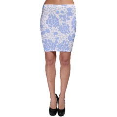 Floral Wallpaper Blue Bodycon Skirts