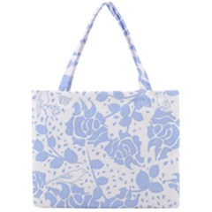 Floral Wallpaper Blue Tiny Tote Bags
