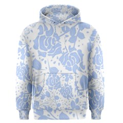 Floral Wallpaper Blue Men s Pullover Hoodies
