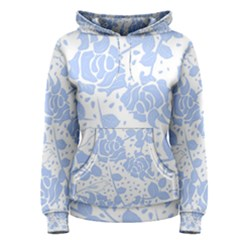 Floral Wallpaper Blue Women s Pullover Hoodies