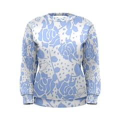 Floral Wallpaper Blue Women s Sweatshirts
