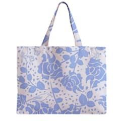 Floral Wallpaper Blue Zipper Tiny Tote Bags