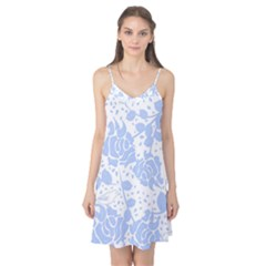 Floral Wallpaper Blue Camis Nightgown