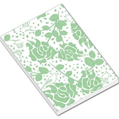 Floral Wallpaper Green Large Memo Pads