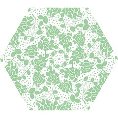 Floral Wallpaper Green Mini Folding Umbrellas