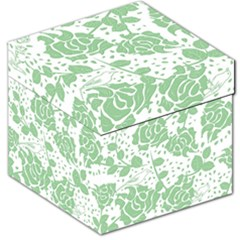 Floral Wallpaper Green Storage Stool 12