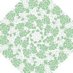 Floral Wallpaper Green Hook Handle Umbrellas (medium)