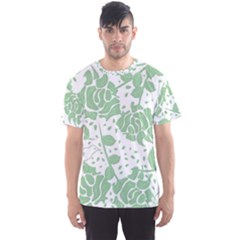 Floral Wallpaper Green Men s Sport Mesh Tees