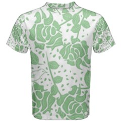 Floral Wallpaper Green Men s Cotton Tees