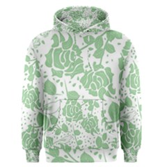 Floral Wallpaper Green Men s Pullover Hoodies