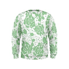 Floral Wallpaper Green Boys  Sweatshirts