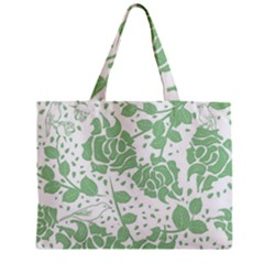 Floral Wallpaper Green Zipper Tiny Tote Bags
