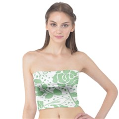 Floral Wallpaper Green Women s Tube Tops