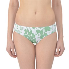 Floral Wallpaper Green Hipster Bikini Bottoms