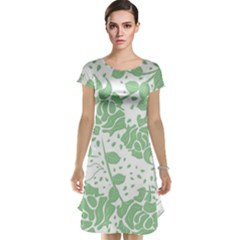 Floral Wallpaper Green Cap Sleeve Nightdresses