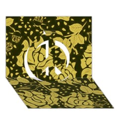 Floral Wallpaper Forest Peace Sign 3D Greeting Card (7x5)