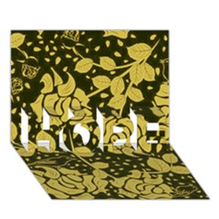 Floral Wallpaper Forest HOPE 3D Greeting Card (7x5)